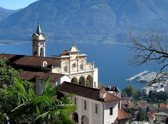 Church, Lake, Landscape, Pilgrimage Church, Ticino