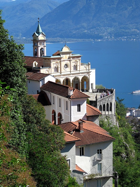 Church, Lake, Landscape, Pilgrimage Church, Ticino