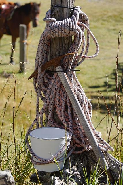 Migratory Utensils, Rope, Pimples, Water Bucket, Hiking