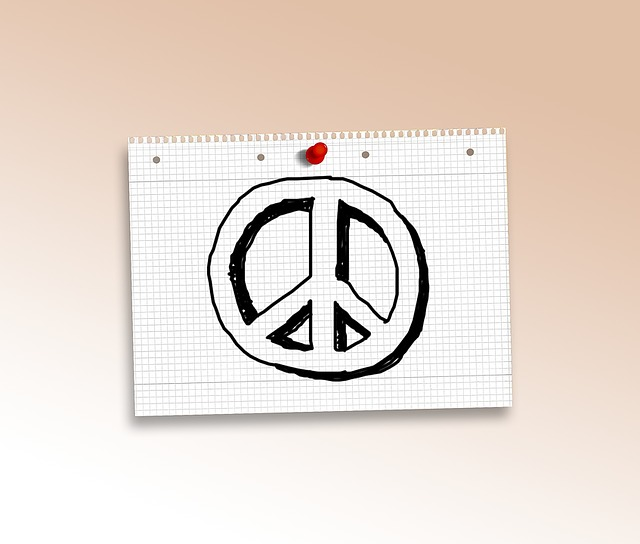 Doodle, Peace, Characters, Paper, Diamonds, Pin