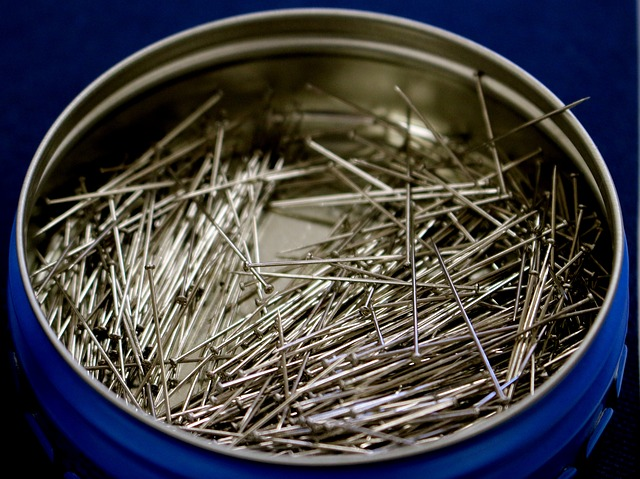 Pin, Pins, Metal, Container, Sharp