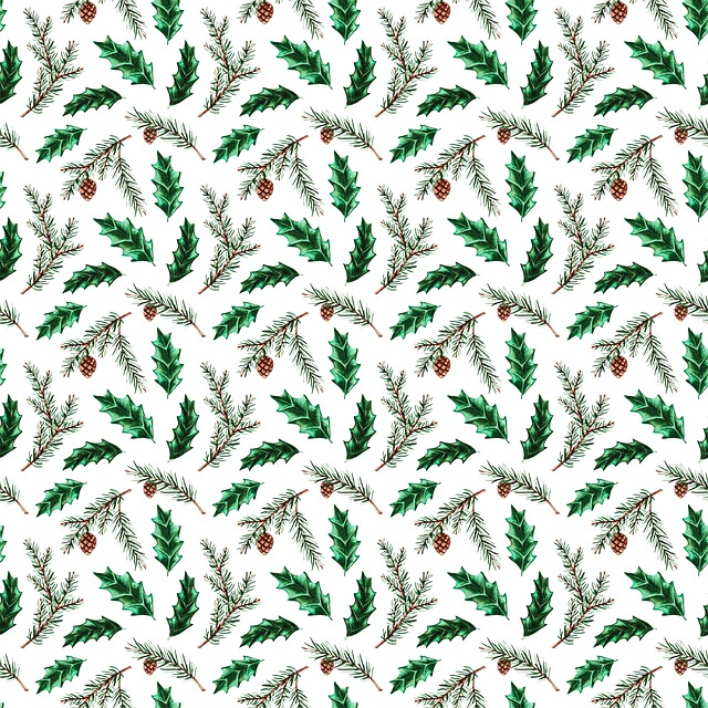 Pine Needle, Pattern, Christmas Digital Paper