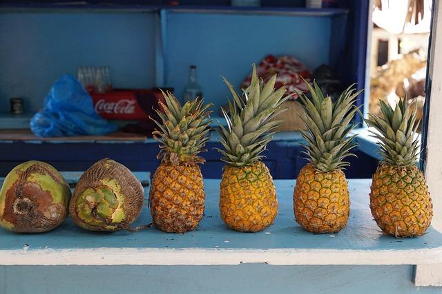 Pineapple, Levantado, Island, Caribbean, Eat