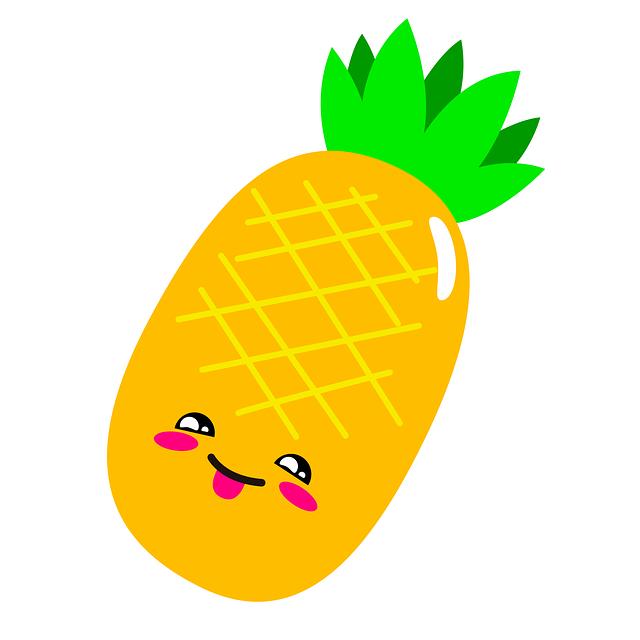 Pineapple, Illustration, Fruit, Nature, Leaves, Green