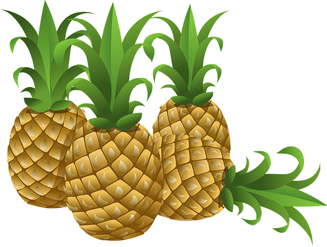 Pineapples, Tropical, Fruits, Foods, Edible, Yellow