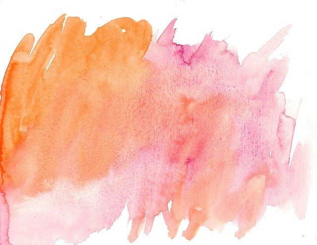 Watercolor, Texture, Pink, Orange, Abstract, Background