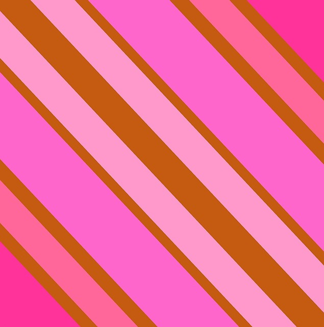 Brown Pink Diagonal Stripes On The Bias Shapes
