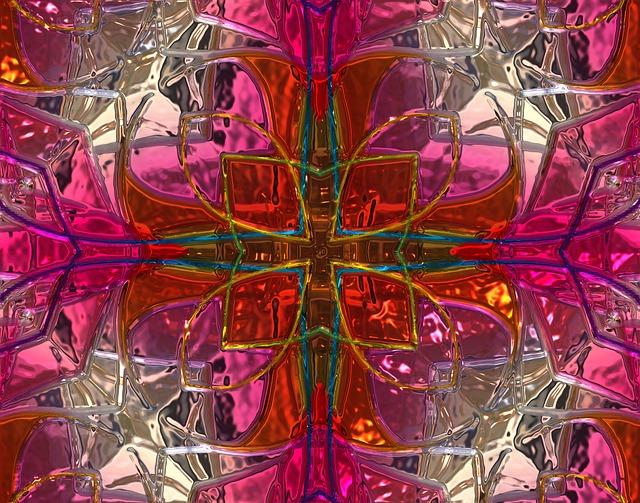 Background, Metallizer, Pink, Color, Nostalgia, Pattern