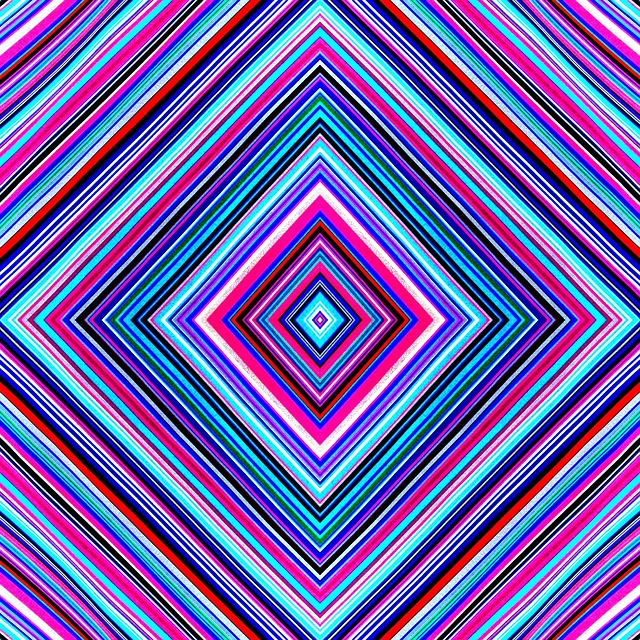 Geometric Abstract Diagonal Thin Blue Pink Lines
