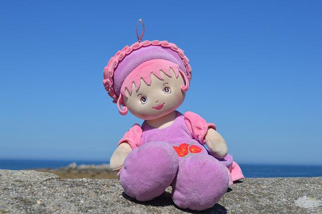Doll, Sea, Holiday, Toy, Lilac, Pink, Soft, Day