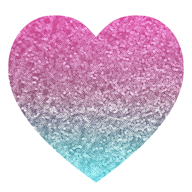 Glitter, Pink, Blue, Heart, Sparkle, Light, Shiny