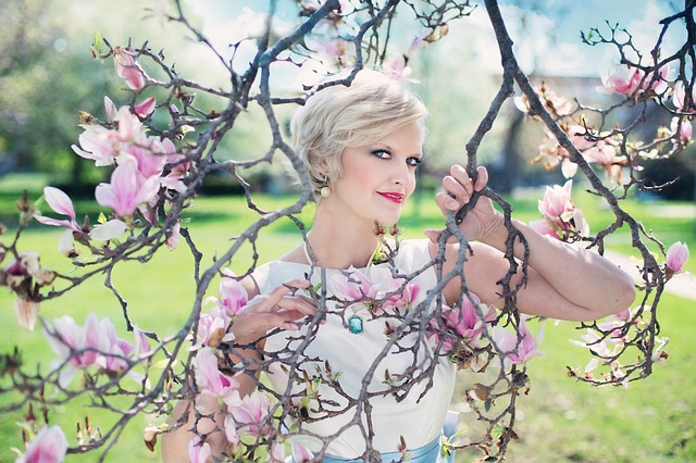 Beautiful Woman, Magnolias, Magnolia Tree, Spring, Pink