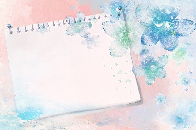 Background, Paper, Stationery, Guestbook, Pink, Blue