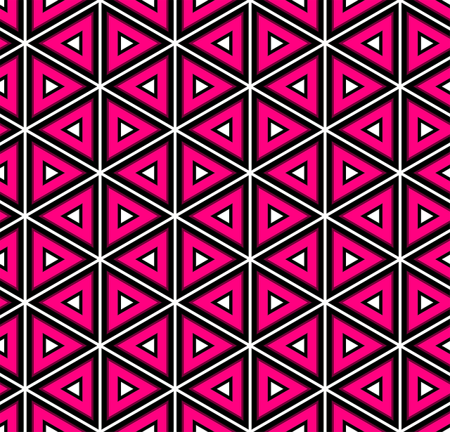 Pink, Pattern, Triangles, Design, Seamless, Lines