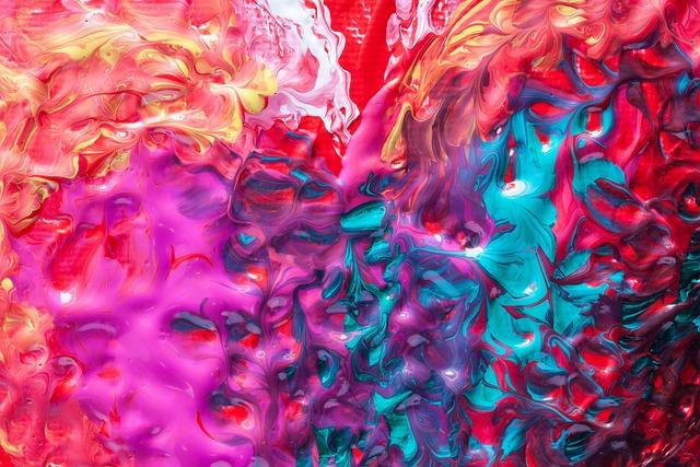 Paint, Painted, Fill, Split, Color, Red, Orange, Pink
