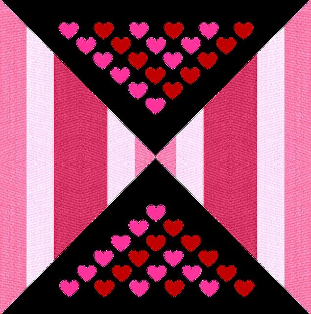 Valentine, Hearts, Love, Fabric, Pink, Raspberry