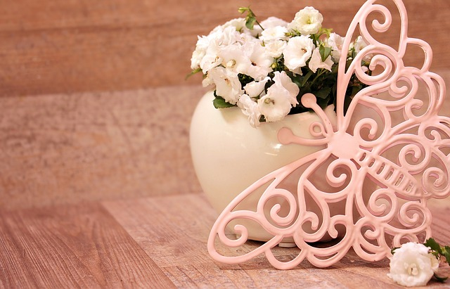 Plant, Butterfly, White Flowers, Pink, Butterfly Pink