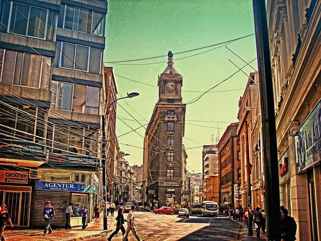 Chile, Valparaiso, City, Corner, Pinochet, Wires, Skies