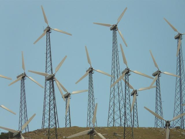 Pinwheel, Windräder, Wind Park, Wind Power, Current