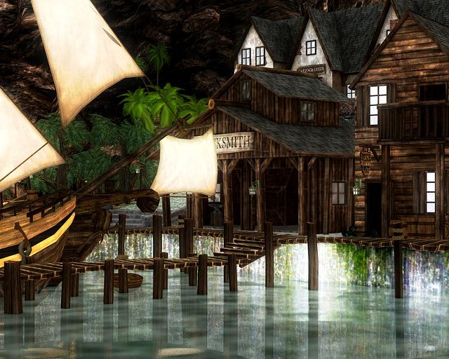 Pirate, Pirate Cove, Ship, Water, Nautical, Skull