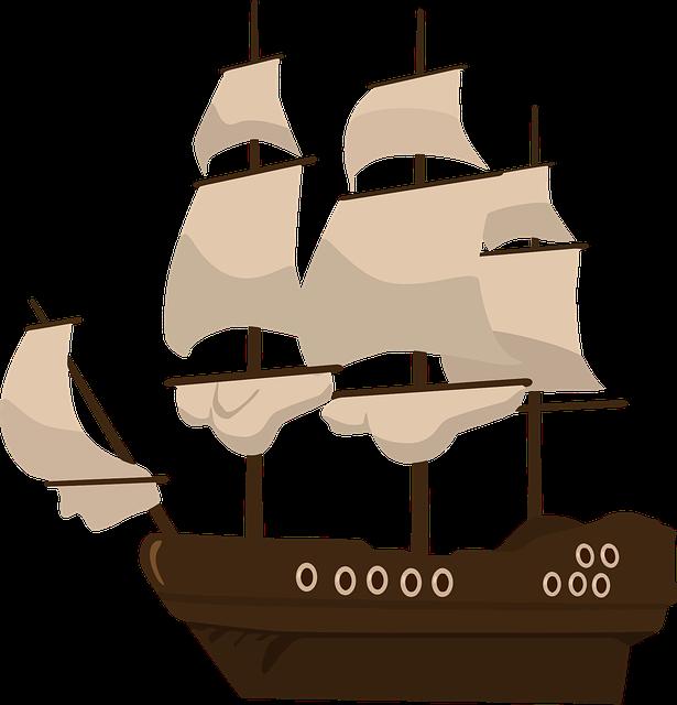 Pirate Ship, Ship, Pirates, Sail, Vessel, Sailboat