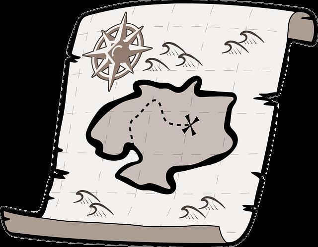 Treasure Map, Treasure Hunt, Pirate Treasure, Map