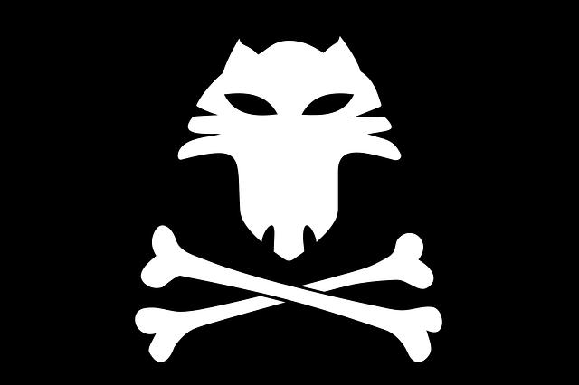 Fox, Bones, Jolly Roger, Pirates, Flag, Skull