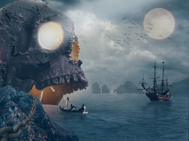 Pirates, Island, Ship, Treasure