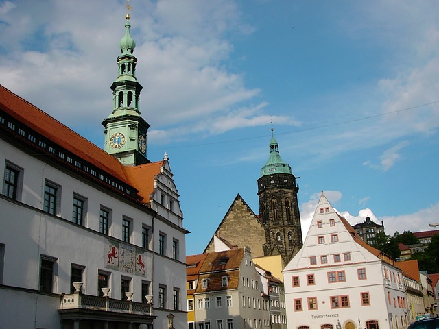 Pirna, Town Hall, St Mary's Church, Old Town