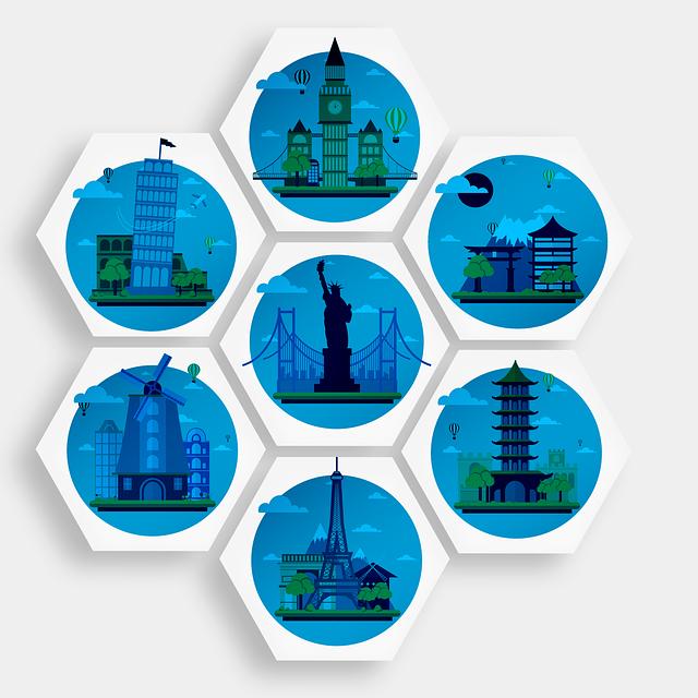 Cities, Landmark, New York, London, Japan, Pisa, China
