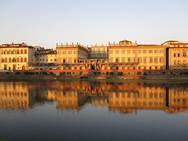 River, Arno, Tuscany, Pisa, Afterglow, Gold Mood