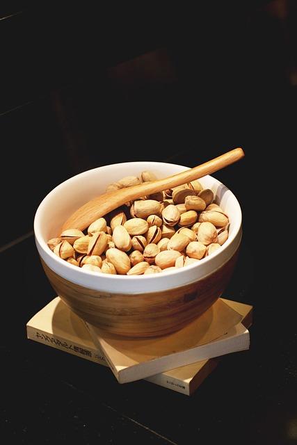 Pistachio, Bowl, Food, Black