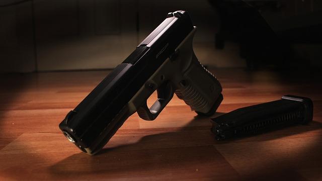 Glock, Gun, Pistol, Handgun, Weapon, Firearm, Brown Gun