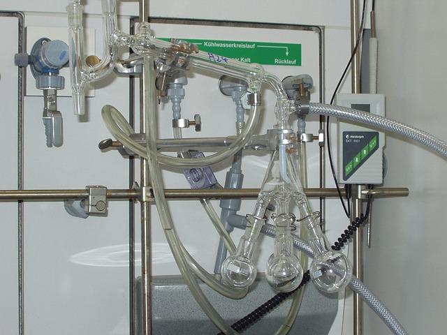 Destille, Distill, Chemistry, Laboratory, Piston