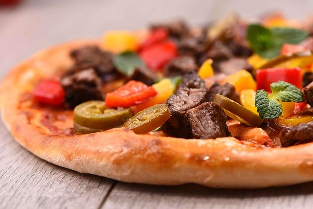 Gourmet, Pizza, Creative Beef Pizza