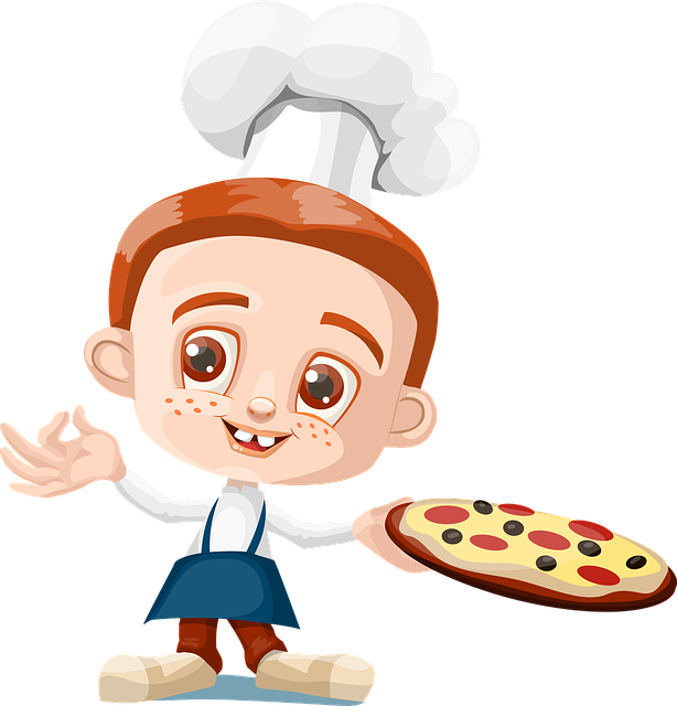 Cook, Boy, Kid, Pizza, Holding, Cooking, Bake, Kitchen