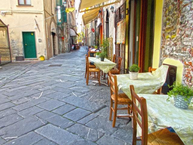 Painting, Trattoria, Pizzeria, Restaurant, Ristorantino