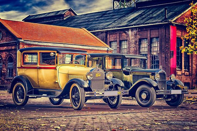 Oldtimer, Classic, Pkw, Auto, Ford, Citroen