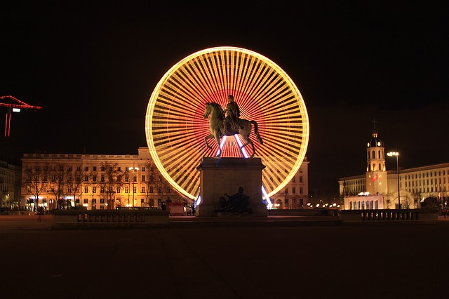 Lyon, Wheel, Ferris Wheel, Place, Place Bellecour