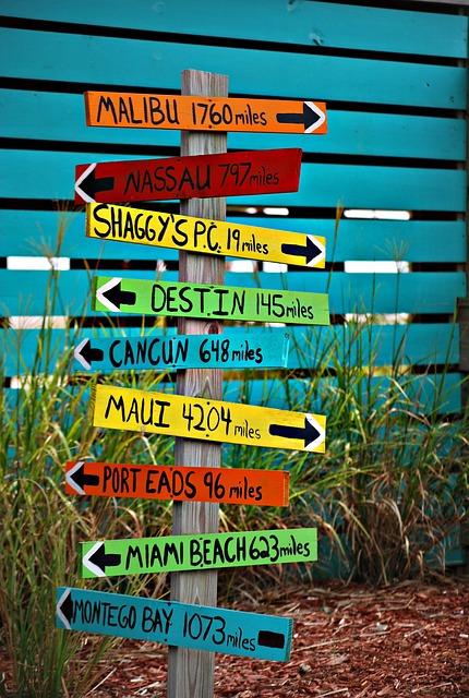 Sign, Places, Travel, Information, Navigation