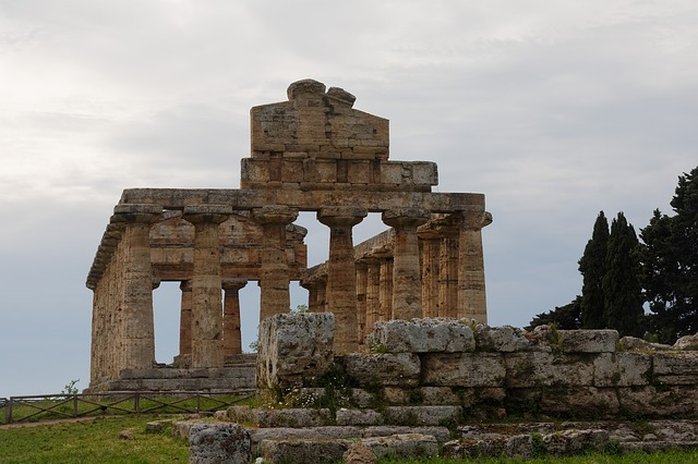 Paestum, Temple, Places Of Interest, Italy, Antiquity