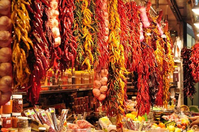 Barcelona, Spain, Market, Places Of Interest, Passage