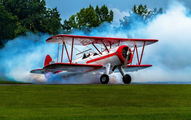 Plain, Bi-plane, Smoking Hot Bi-plane, Aircraft