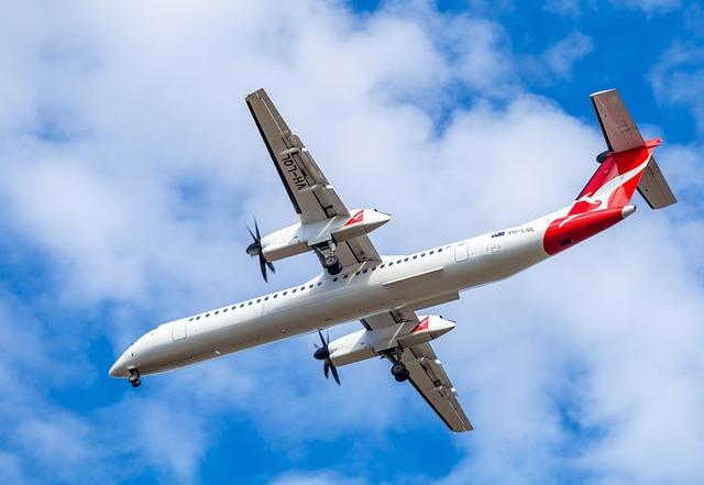 Plane, Passenger Plane, Qantas, Twin Turboprop