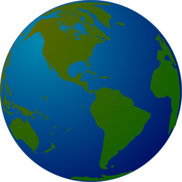 Earth, World, Globe, Map, Planet, Western Hemisphere