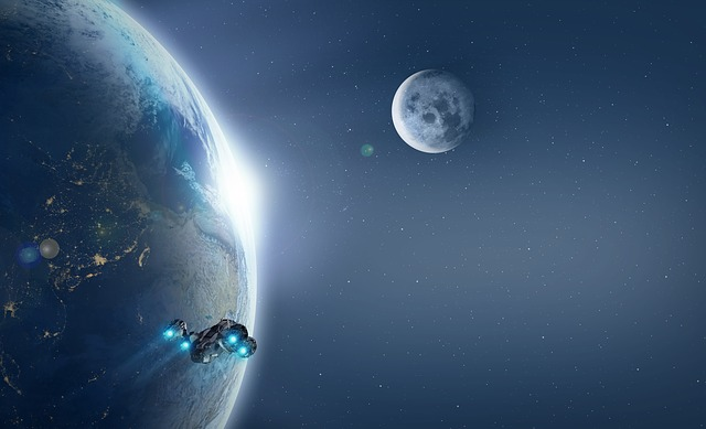 Spaceship, Planet, Galaxy, Space, Forward, Universe