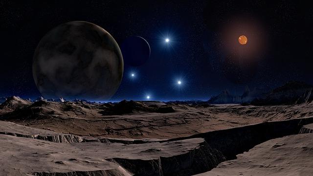 Lunar Landscape, Star, Brown Dwarf, Sun, Planet
