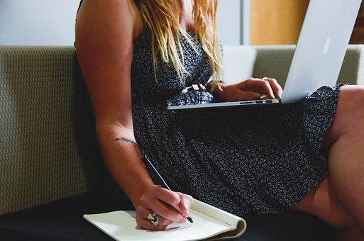Entrepreneur, Startup, Start-up, Woman, Planing