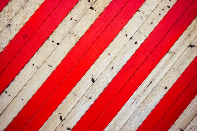 Campus, Plank, Stripes, Wooden, Background, Red Stripes
