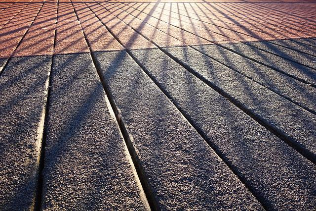Shadow, Shadow-play, Rail, Bridge, Planks, Sunlight